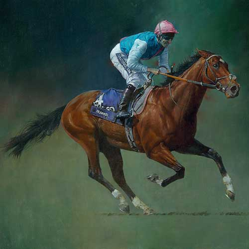 Frankel by Michael Heslop. Canvas printing by Art4site Ltd.