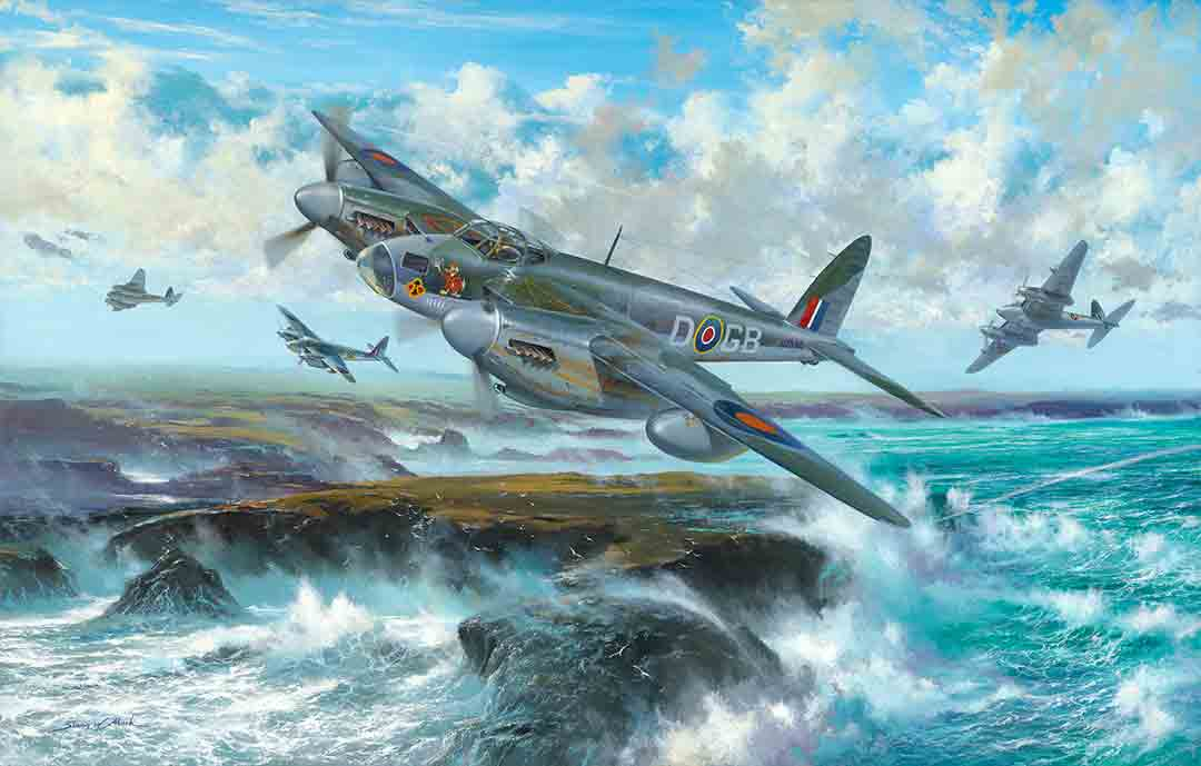 On the Wings of a Storm by Simon W Atack. Card printing image example.